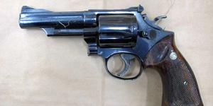 Vapnet som användes i Kvarnsveden. Bild från polisens förundersökning.