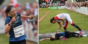 Tove Alexandersson behövde tömma sig på alla krafter för att nå VM-guldet på medeldistansen. Foto: TT.