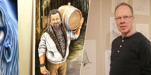 Stefan Jansson bjuder på en både färgstark och mycket illustrativ utställning i Ahlbäcksalen, Smedjebacken.