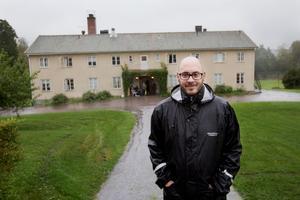 Mattias Hellström är regionchef på Jojarjo AB som under en period drev asylboende i Nyhyttan. Bilden är tagen vid öppningen 2015.Arkivfoto