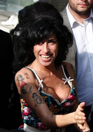 Sångerskan Amy Winehouse.