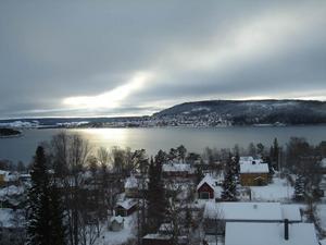 Ett kyligt Östersund Foto: Annika Karlsson