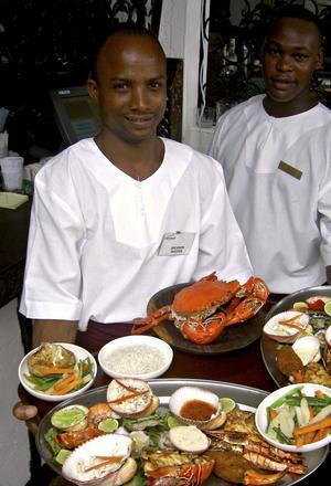 Kenya bjuder på läckra middagar med skaldjur.