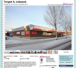 Så ser det ut på Blocket när Kurt Öberg försöker sälja sin del av kvarteret Häradsdomaren i centrala Leksand.