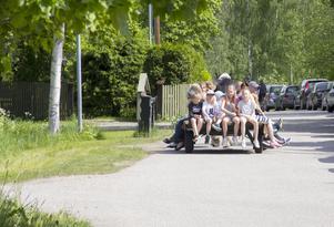 Häst och vagn på nationaldagsfirandet i Söderala.