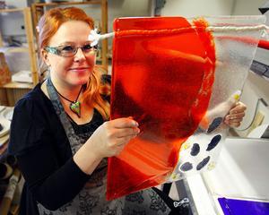 Mari Zidén från Ånge har tagit emot Liondistriktets kulturpris.