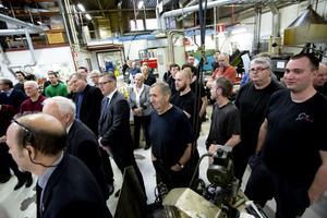 Det var en stor dag på Gerdins Cutting Technology när längdsvarven invigdes.