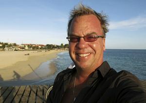 Johan Öberg - med vind i håret.