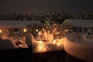 Snön på altanen är sedan 091215