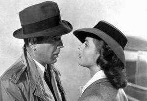 Humphrey Bogart och Ingrid Bergman i