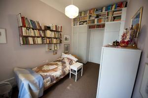 Astrid Lindgrens sovrum på Dalagatan 46 i Stockholm.