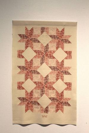 Katarina Widegrens bonad visas på Jamtlis textila vårsalong.