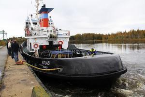 Atlas, eller Migg som båten snart kommer att heta, anlände till Stugsund under torsdagen.