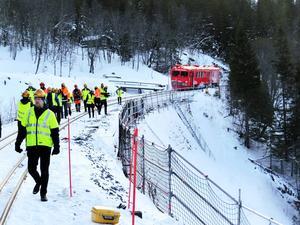 Efter invigningen har ingen tågtrafik passerat Stora helvetet som ligger vid norsk-svenska gränsen. Tillståndet för trafik på norska sidan har saknats.