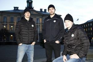 Sebastian Wännström, Ludvig Rensfeldt och Oscar Dansk numera i Rögle får några dagar ledigt hemma i Gävle efter matchen mot Brynäs i dag.
