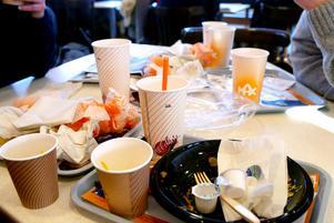 Snabbmat genererar mycket avfall.