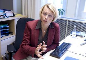 Dam för sin hatt. Energiminister Anna-Karin Hatt sa nej till att varje EU-land ska minska energiförbrukningen med 1,5 procent per år.foto: scanpix