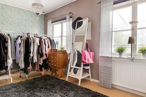 Ett rum kan vara walk-in-closet.