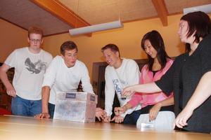 På måndag är det dags för skolval på Dahlandergymnasiet i Säter. Björn Greijer, Adam Montén, Dennis Hjortsberg och Elisabeth Johansson i NV1 förbereder valet tillsammans med läraren Kirsi Mäkelä.