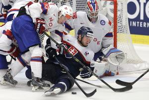 Norges Andreas Stene mot Slovakien under VM 2015.