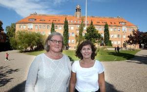 Ulrika Loman, vice, och Ylva Appelgren, rektor. Foto: Curt Kvicker