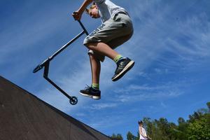 Jonas Vestin, 14, bor nära Lungviksparken och besöker ofta parkens träramp på sin fritid.