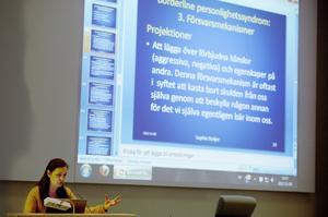 Från förra årets Psykevecka, psykoterapeuten Sophie Steijer, talar om borderline.