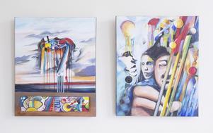 """Utställningen """"Bildens kraft – harpans ton"""" äger bara rum i helgen, lördag-söndag 30-31/5. Plats: Kyrkskolan i Hölö Det är harpisten, och harpatillverkaren Adrian (som LT skrev om i januari) samt två konstnärer som ställer ut konstverk på temat harpa."""