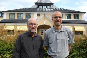 Robert Hollsten och Benno Krachler ser fram emot att få utbyta erfarenheter i olika behandlingsmetoder.
