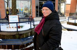 Minnesdag. I går var det Förintelsens minnesdag och precis som varje år sedan mer än tio år tillbaka genomförde Karin Ranieli en manifestation i Bergsparken i Hallsberg.