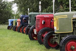Brorsan Stig äger också veterantraktorer och tillsammans med Sven brukar de ställa ut sina fordon.