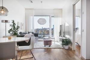 Inredd lägenhet i det nya huset.