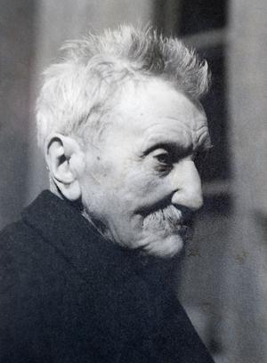 Ett foto av Erik Ofvandahl inför 100-årsdagen. Under sin levnad var Ofvandahl en stor vän av poesi och lyrik och anses i dag vara Sveriges främste pekoralist.