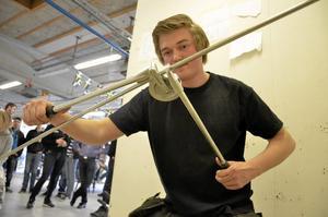 Tävlade. Marcus Schörling var Tullängens representant på Regionmästerskapen i VVS som avgjordes på Tullängsskolan i Örebro. Foto: Anders Erkman