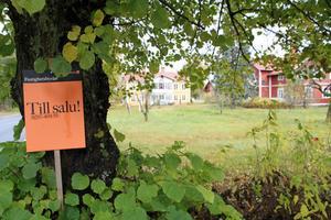 En hästgård med 17 hektar åkermark och fem hektar skogsmark säljs för 2,5 miljoner kronor. Två större boningshus ingår i priset.
