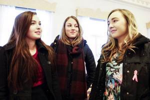 Jennifer Grahn Hellberg, Karoline Hallqvist och Jenni Eriksson lyssnade på Erik Ullenhag.