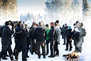 Vargfrågan är mycket aktuell och stor i hela landet. Miljöminister Lena Ek kom upp till Junsele i januari i år för att lyssna på de berörda samerna angående vargparet i området.
