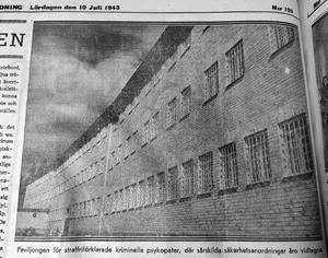 Ett klipp ur Sundvalls Tidning i samband med invigningen av Sidsjöns sjukhus 1943. I Paviljongen skulle