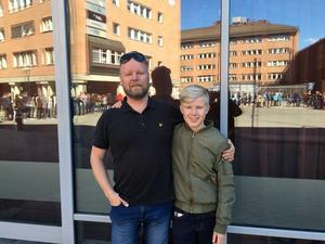 Max och Hjalmar Zackare hoppades bli av med ett par cyklar på årets Cykelbytarbytardag på Conventum.