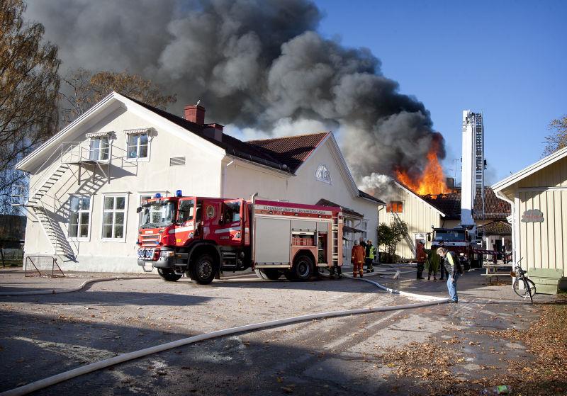 Brand forstorde delar av forskola 3