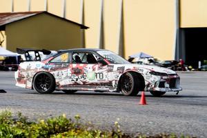 Stefan Henricsson från Bräcke tog hem förstaplatsen i Proint klassen med sin Nissan 200SX  S14.