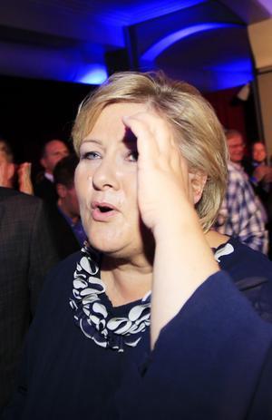 Siktar på makten. Höyres ledare Erna Solberg var det norska valets stora segrare.foto: Scanpix