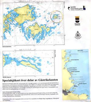 De nya sjökorten är de första i en serie.