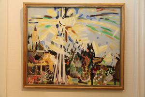 En av Verner Molins målningar som visas i Edsbyns museum.