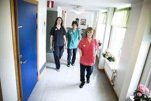 Caroline Bergfeldt, Gunilla Karls Lindén och EvaBritt Funke hade mer att säga till om när Carema drev demensboendet Korsnäsgården.