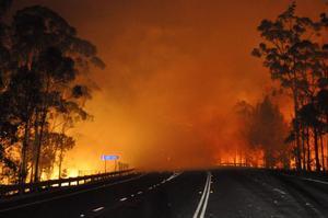 Våldsamma bränder i Tasmanien.