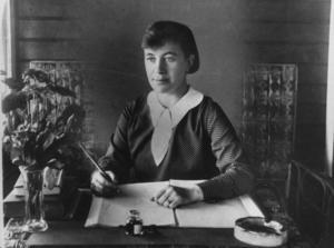 Författaren och brevskrivaren Agnes von Krusenstjerna.