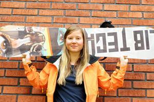 Elin Turpeinen segrade nyligen i NM i offpist-åkning.