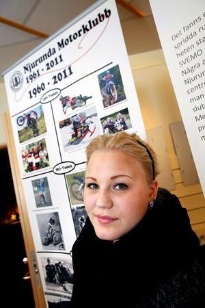 Tina Skiöld representerar motorcykelsportens framtid i Njurunda.