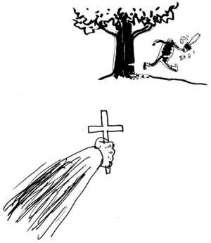 Exorcism. En av Ölands församlingar är i Barbro Lindgrens onåd sedan den sålde ut lund och prästgårdsäng i Glömminge för att få råd med toa, lövsugare och motorgräsklippare. Följden blev att uråldriga ekar raskt avverkades.